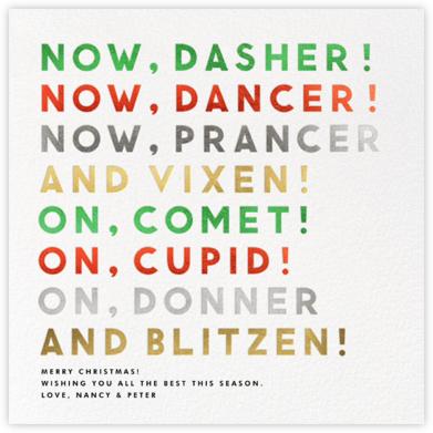 Reindeer Names - White - The Indigo Bunting -