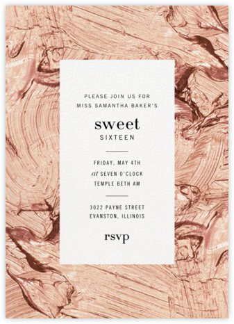 Gypsum (Tall) - Rose - Kelly Wearstler - Sweet 16 invitations