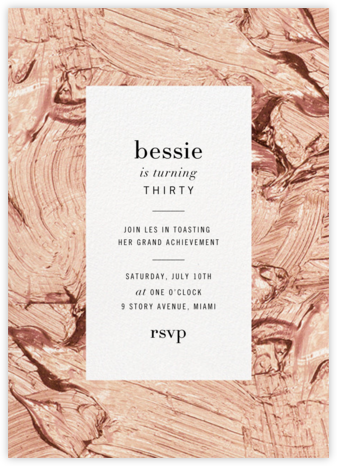 Gypsum (Tall) - Rose - Kelly Wearstler - Milestone birthday invitations