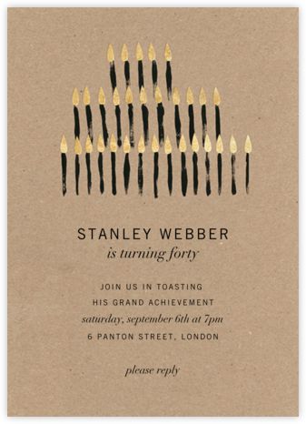 Luminate (Tall) - Kelly Wearstler - Milestone Birthday Invitations