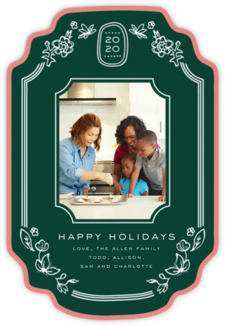 Ornate Frame (2020) - Green - Cheree Berry - Holiday Cards