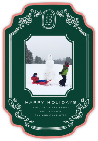 Holiday Framejob (2018) - Green - Cheree Berry - Holiday cards