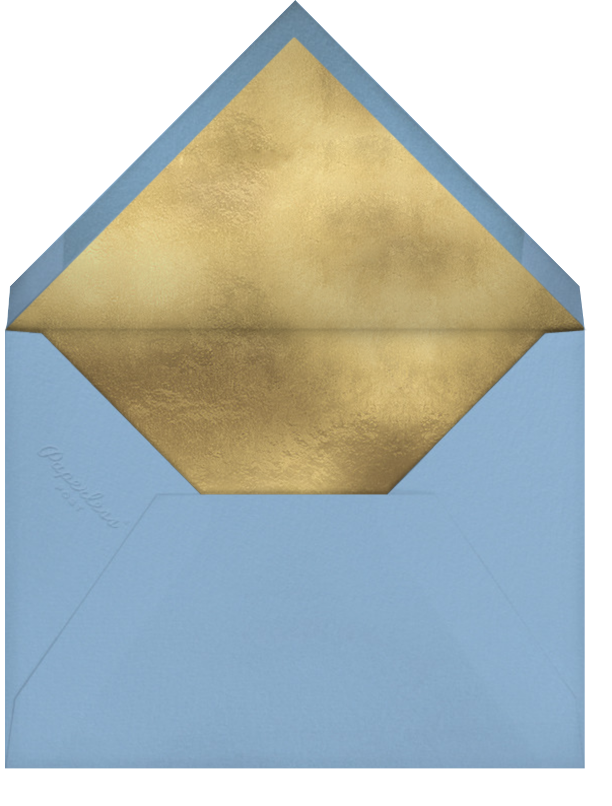 Chilly Cactus - Blue - Paperless Post - Christmas - envelope back