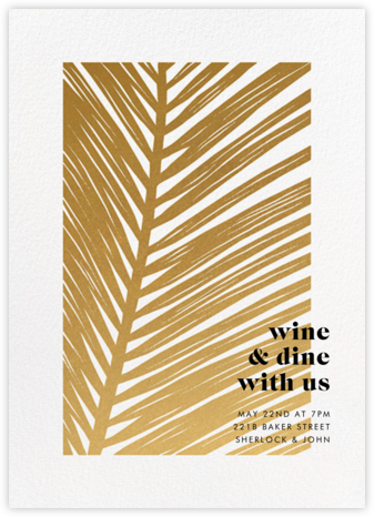 Las Palmas - Paperless Post - Summer entertaining invitations