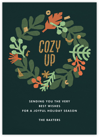 Eucalyptus Wreath - Paperless Post - Holiday cards