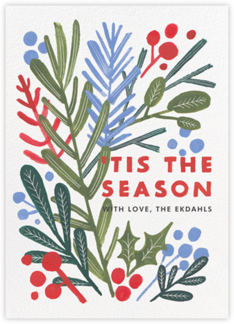 Winter Greens - Paperless Post - Holiday cards
