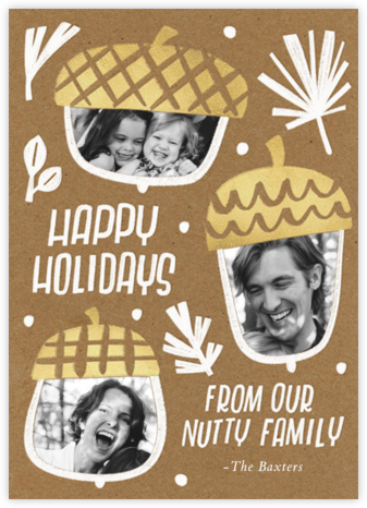 Bunch of Nuts - Paperless Post - Holiday Cards