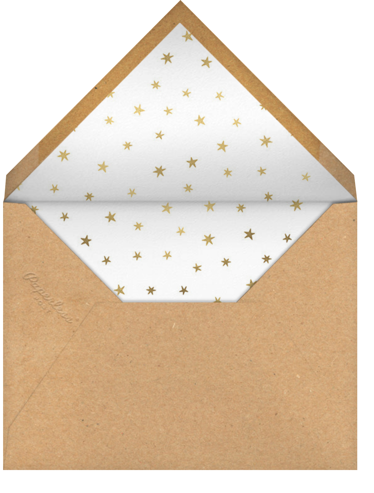 Holiday Starbursts - Paperless Post - Holiday cards - envelope back