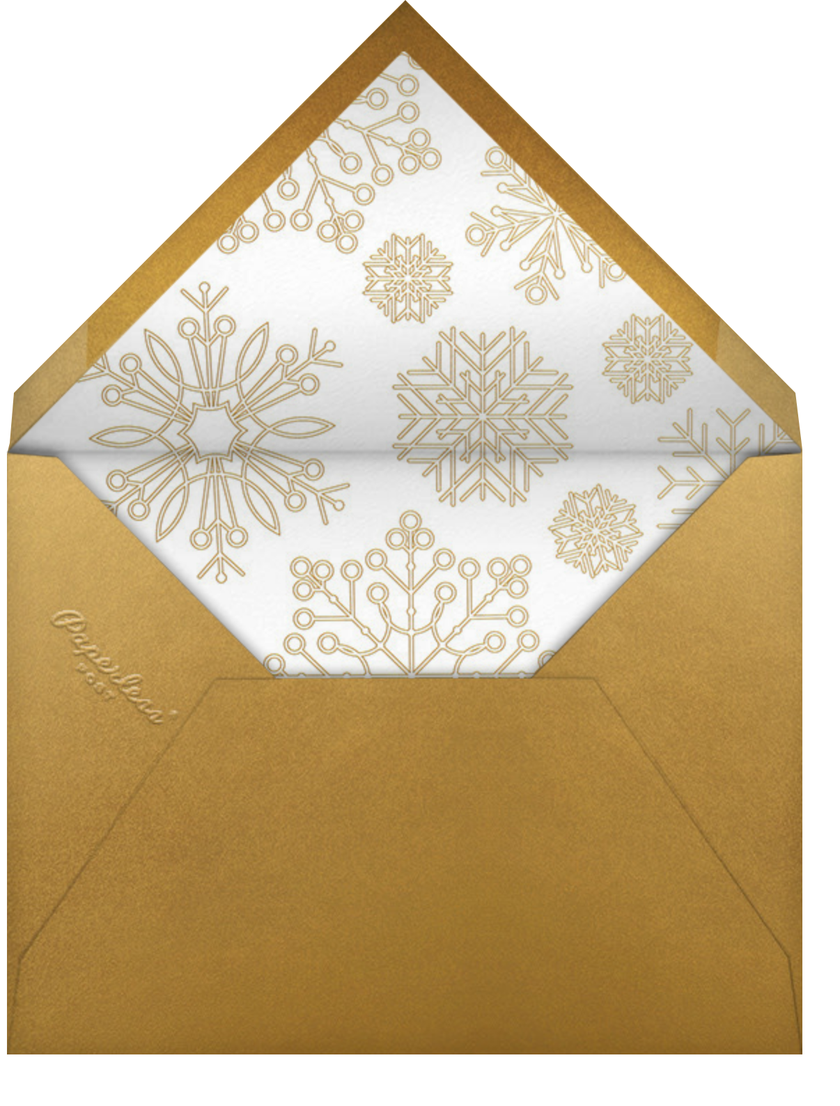 Etched Snowflakes - Cream - Paperless Post - Business holiday cards - envelope back
