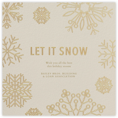 Etched Snowflakes - Cream - Paperless Post - Company holiday cards
