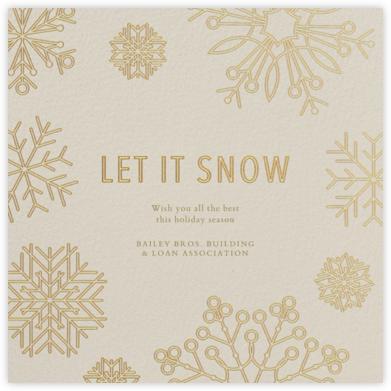 Etched Snowflakes - Cream | square
