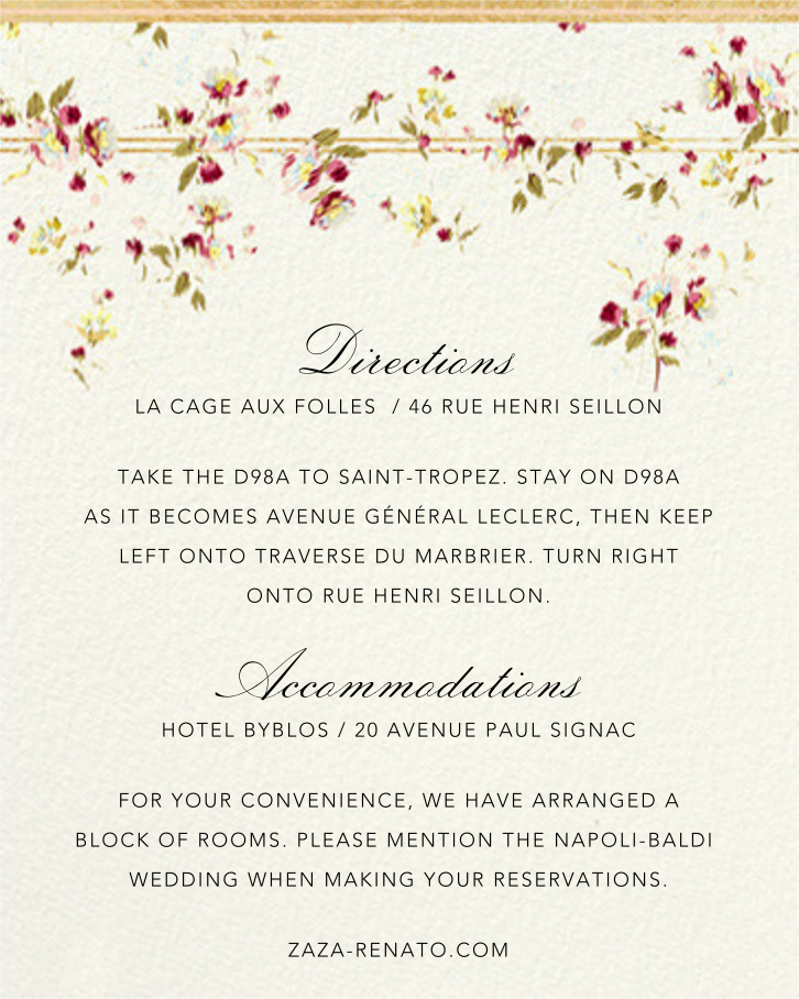 Carmen (Invitation) - Brock Collection - All - insert front