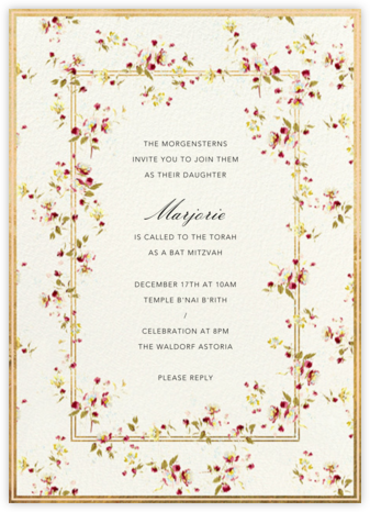 Carmen - Brock Collection - Bat and Bar Mitzvah Invitations
