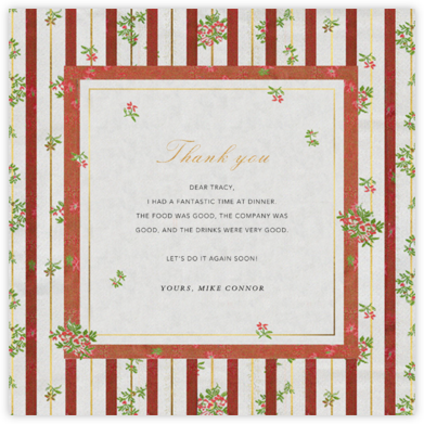 Cybele - Brock Collection - Online Thank You Cards