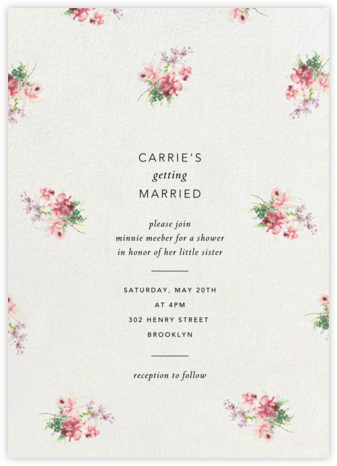 De Winter - Brock Collection - Bridal shower invitations