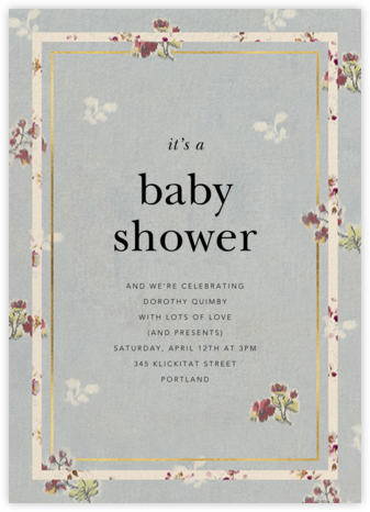Gilda - Brock Collection - Baby Shower Invitations