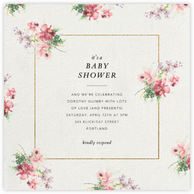 Kundry - Brock Collection - Online Baby Shower Invitations
