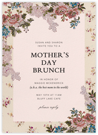 Manon - Brock Collection - Online Mother's Day invitations