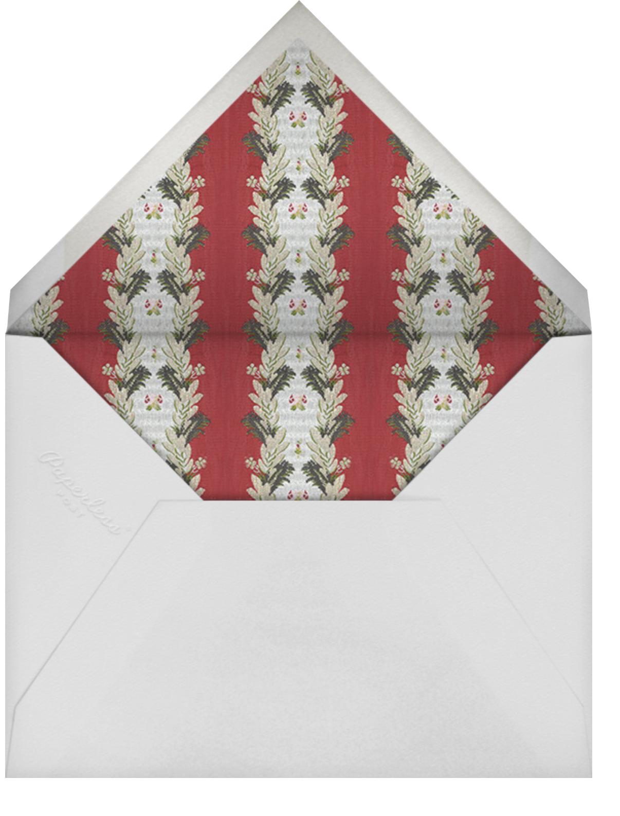 Natalya - Brock Collection - Christmas party - envelope back