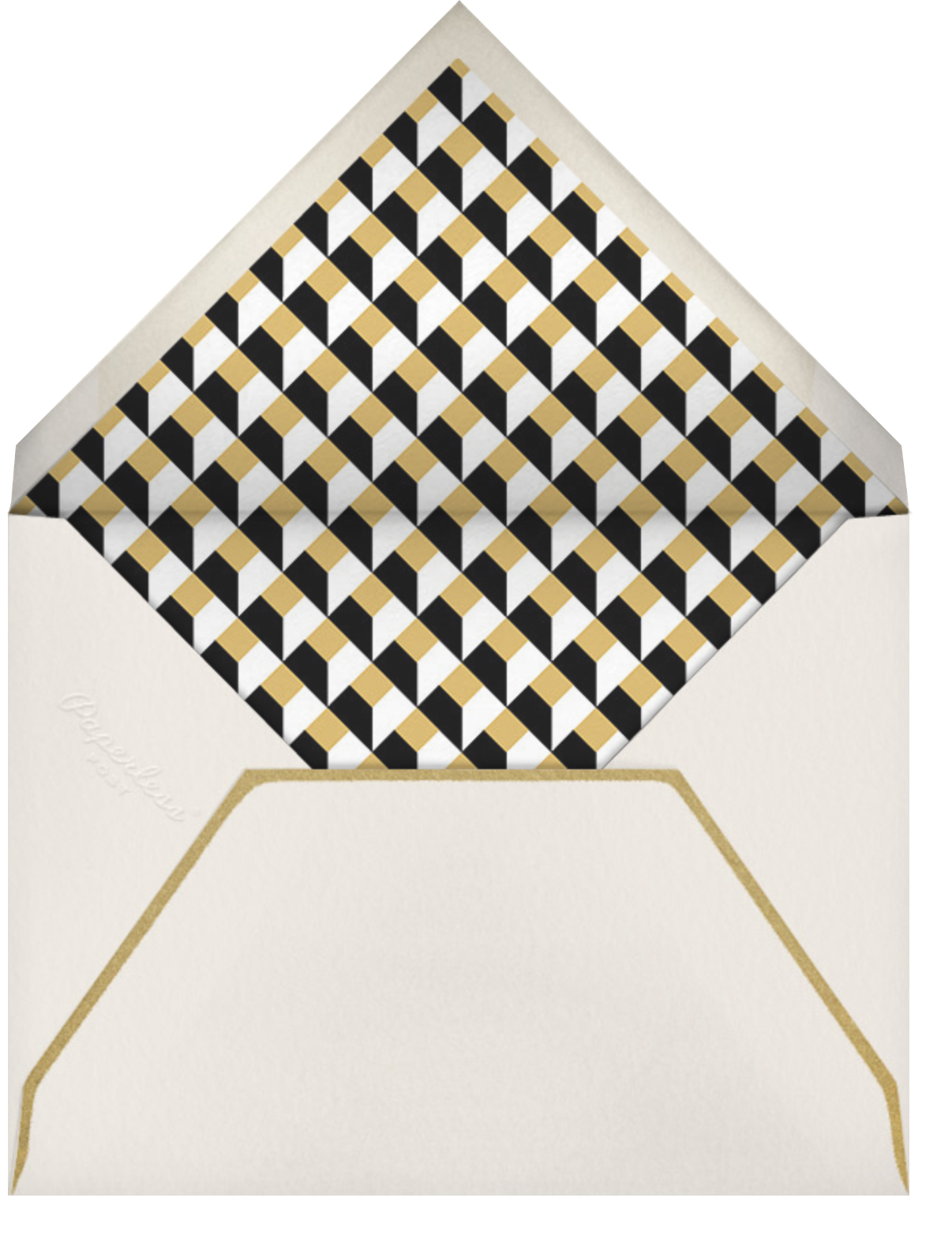Gold Braid (Pitch) - Paperless Post - Adult birthday - envelope back