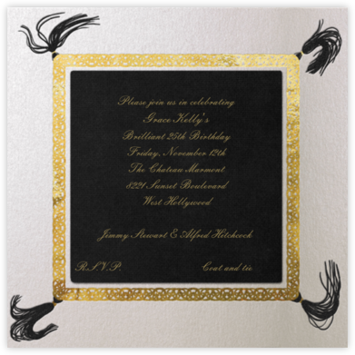 Gold Braid (Pitch) - Paperless Post - Adult birthday invitations