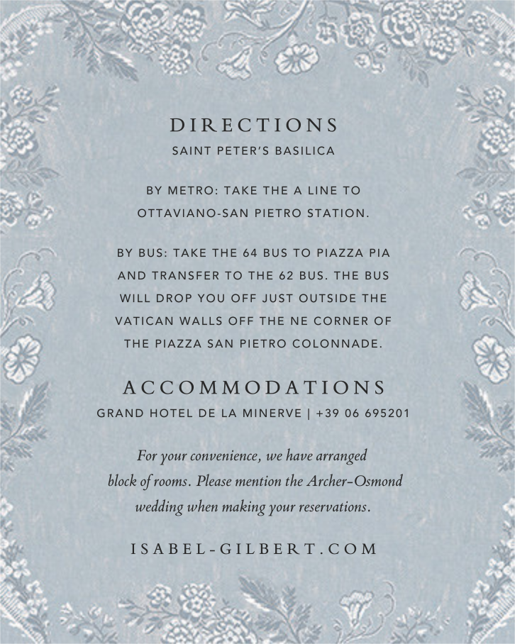 Paloma (Invitation) - Pacific - Brock Collection - All - insert front