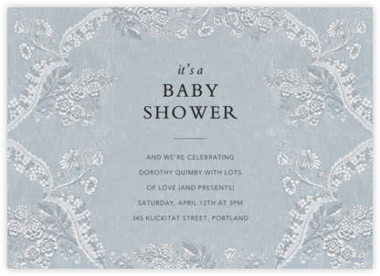 Paloma - Pacific - Brock Collection - Baby Shower Invitations