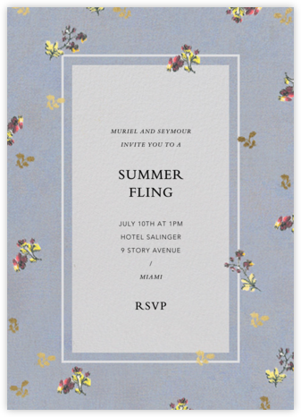 Poppea - Brock Collection - Summer entertaining invitations