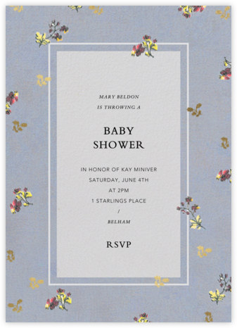 Poppea - Brock Collection - Baby Shower Invitations