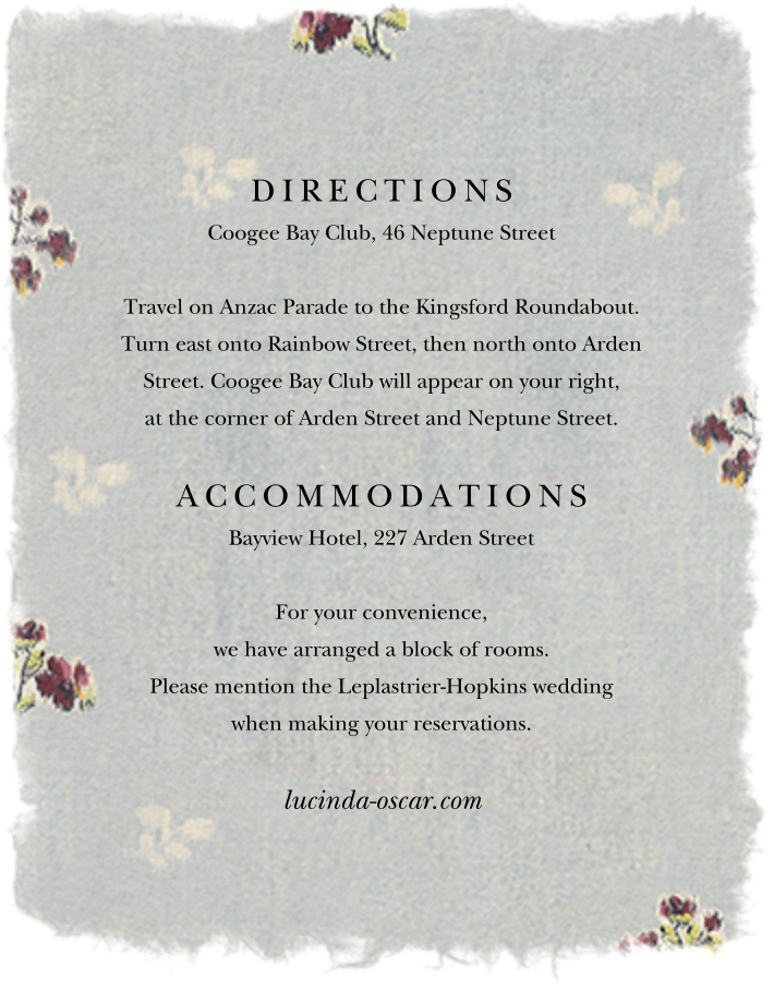 Theda (Invitation) - Brock Collection - All - insert front