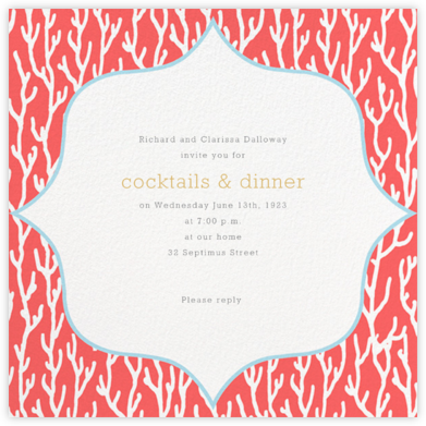 Coral - Ivory - Paperless Post - Summer Party Invitations