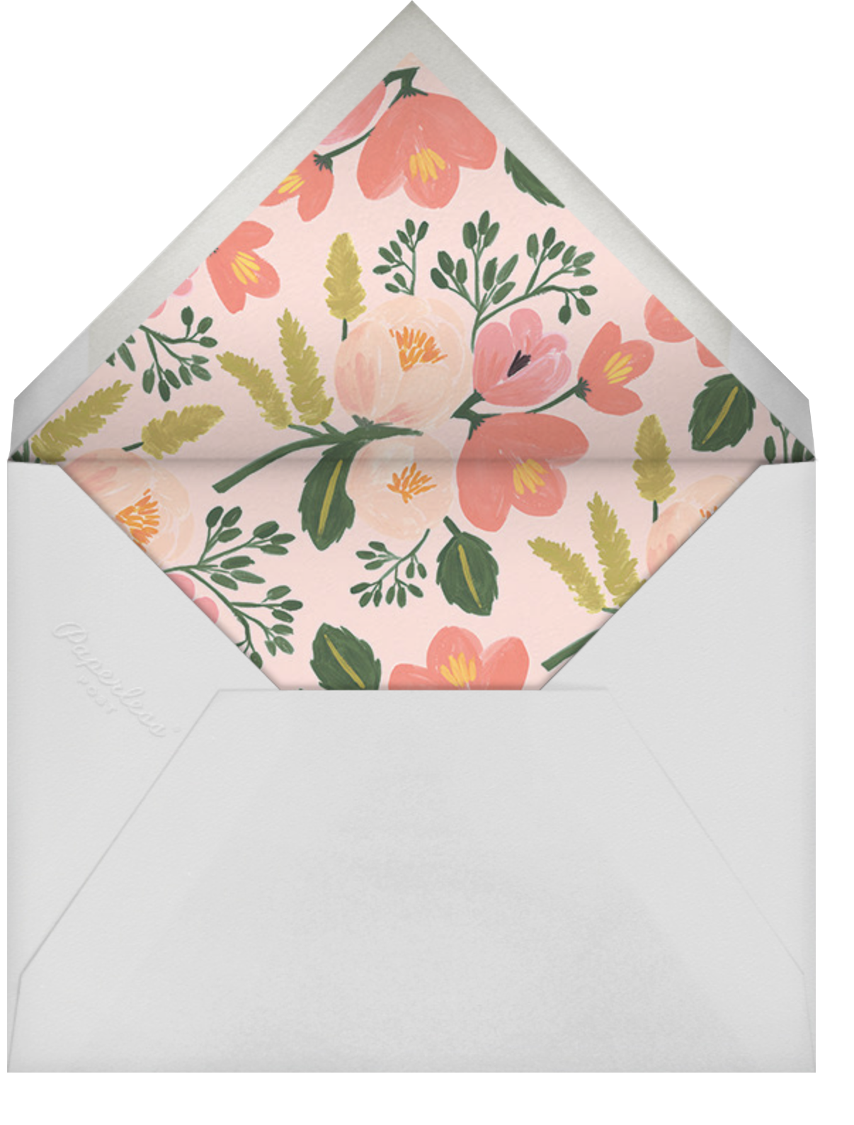 Botanic Year (Tall) - Oyster - Rifle Paper Co. - New Year's Eve - envelope back