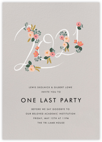 Botanic Year (Tall) - Oyster - Rifle Paper Co. -