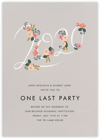 Botanic Year (Tall) - Oyster - Rifle Paper Co. - Celebration invitations