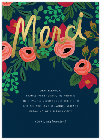 Merci Bouquet - Rifle Paper Co. - Online Thank You Cards