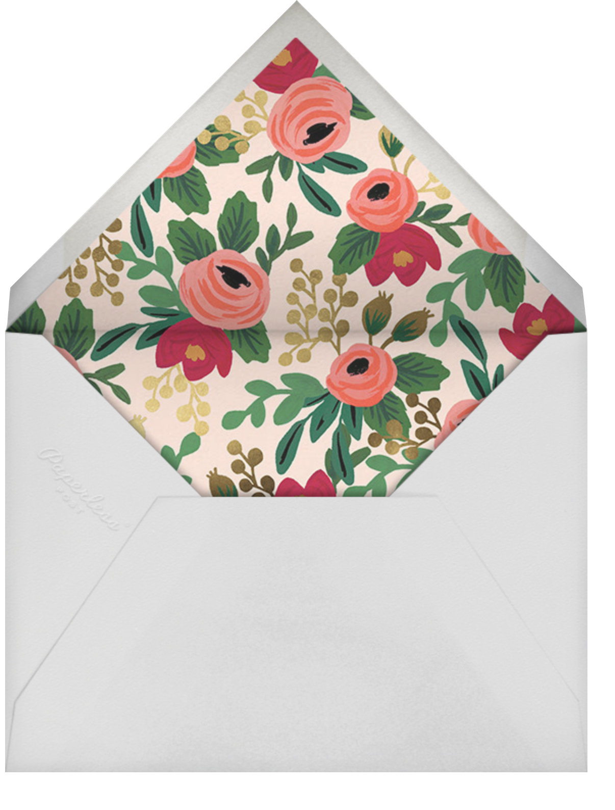 Rosy Cheeked - Rifle Paper Co. - Anniversary party - envelope back