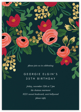 Rosy Cheeked - Rifle Paper Co. - Adult Birthday Invitations