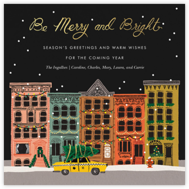 Holiday in the City - Rifle Paper Co. - Christmas Cards