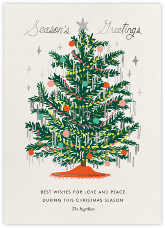 Tinsel Tannenbaum - Rifle Paper Co. - Rifle Paper Co. Cards