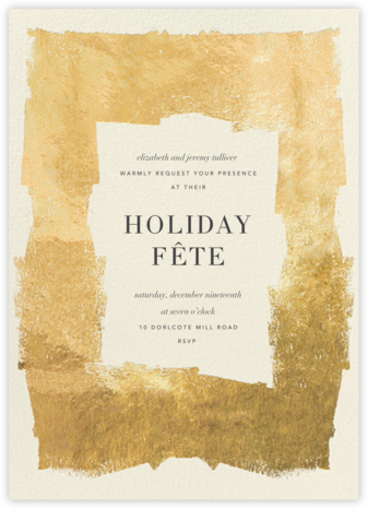 Framework - Cream/Gold - Kelly Wearstler - Holiday invitations