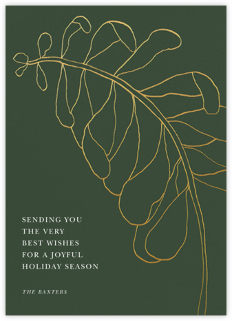 Contour Branch - Greenwood - Paperless Post - Holiday cards