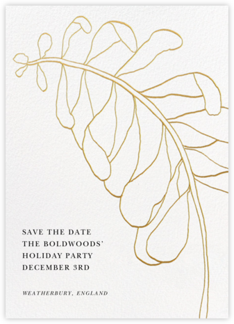 Contour Branch - White - Paperless Post - Holiday Save the Dates