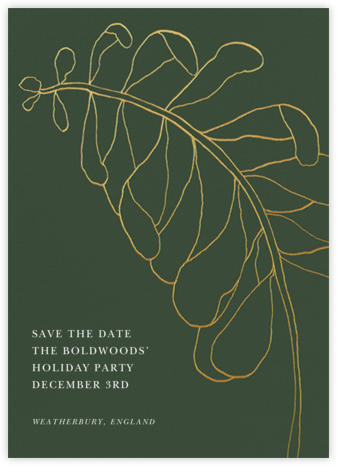 Contour Branch - Greenwood - Paperless Post - Holiday save the dates