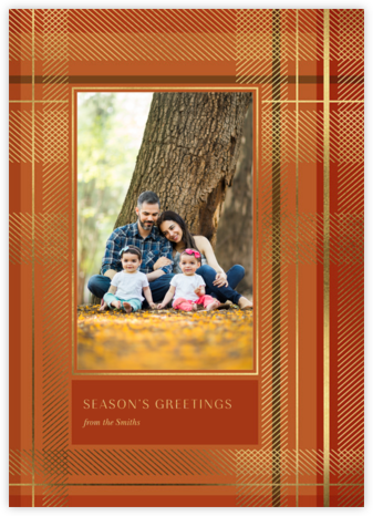 Sparkling Tartan Photo - Red - Paperless Post - Holiday cards