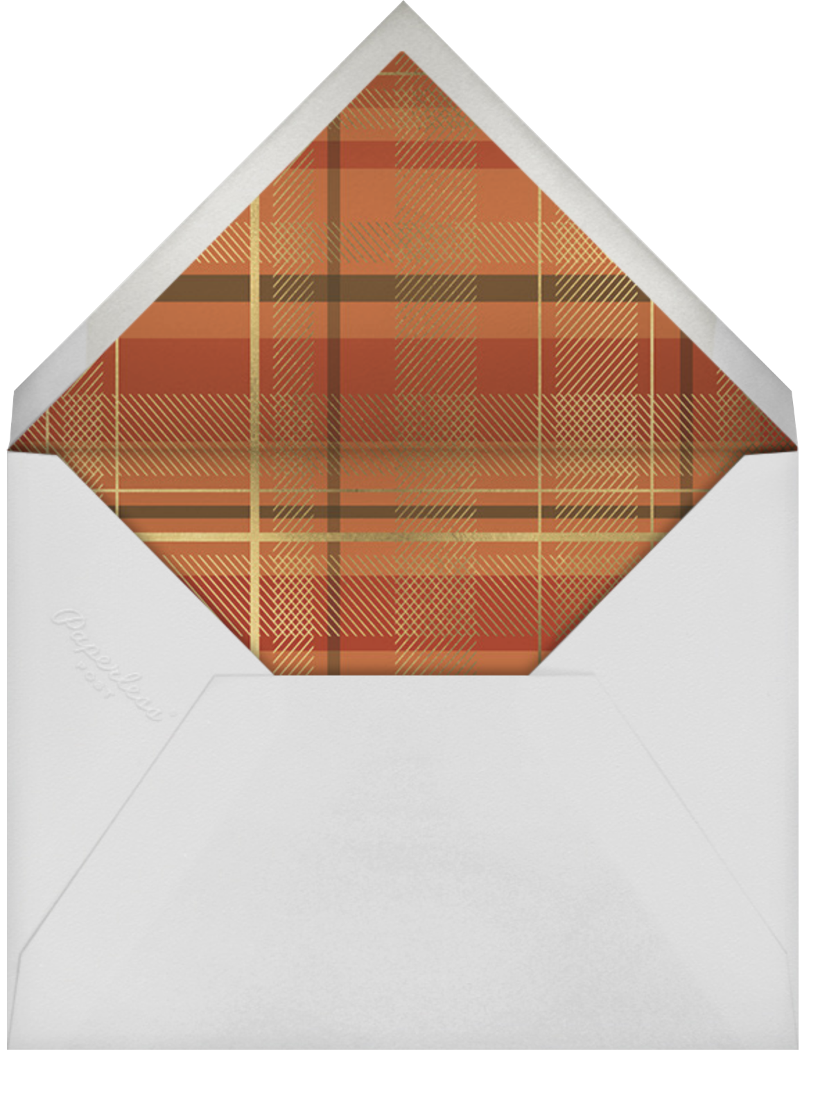 Sparkling Tartan Photo - Red - Paperless Post - Holiday cards - envelope back