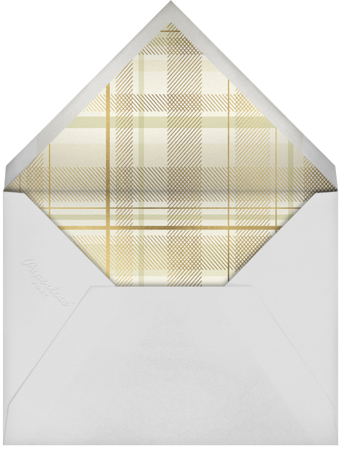 Sparkling Tartan Photo - Cream - Paperless Post - Holiday cards - envelope back