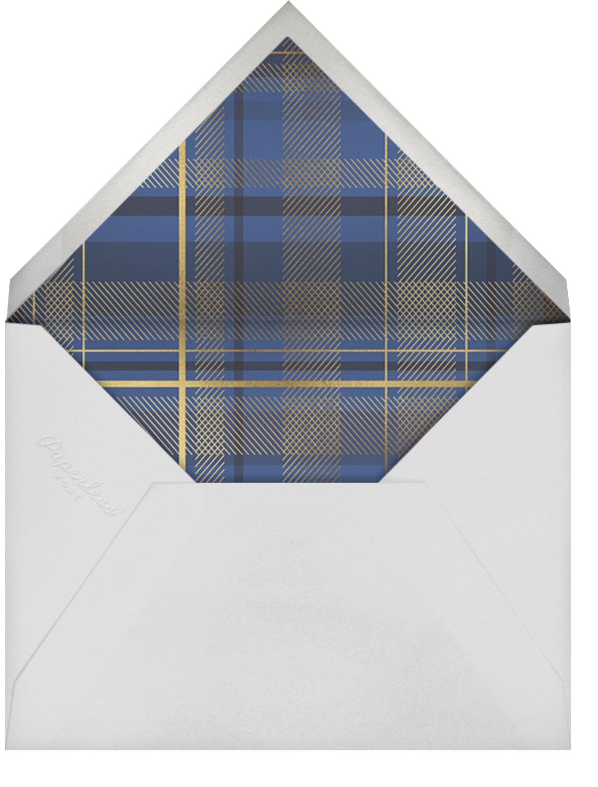 Sparkling Tartan Photo - Blue - Paperless Post - Holiday cards - envelope back