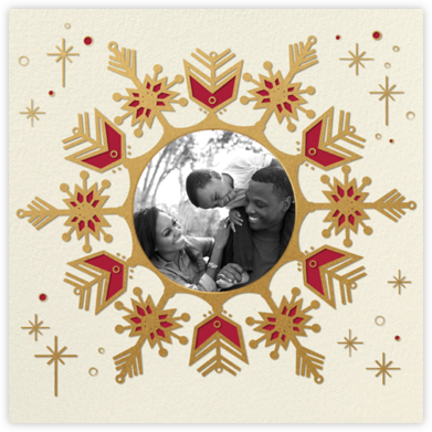 Celestial Snowflake - Red - Paperless Post - Christmas Cards