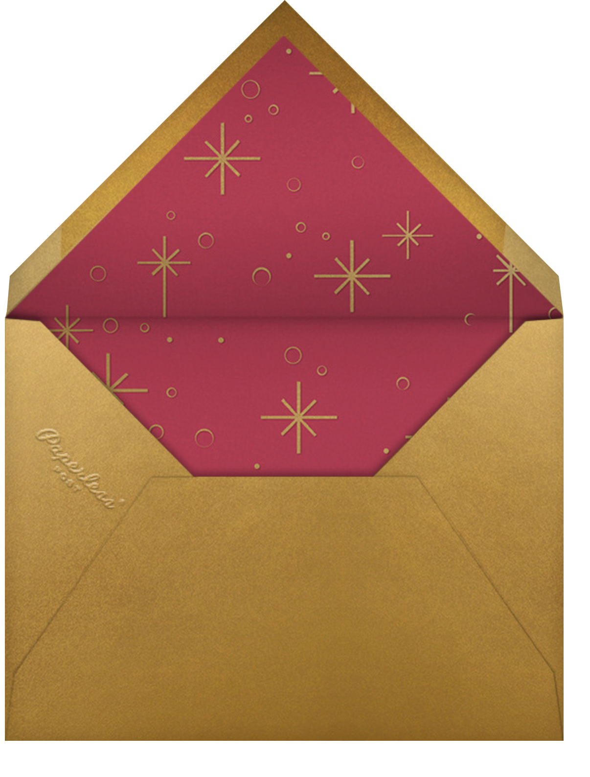 Celestial Snowflake - Red - Paperless Post - Christmas - envelope back