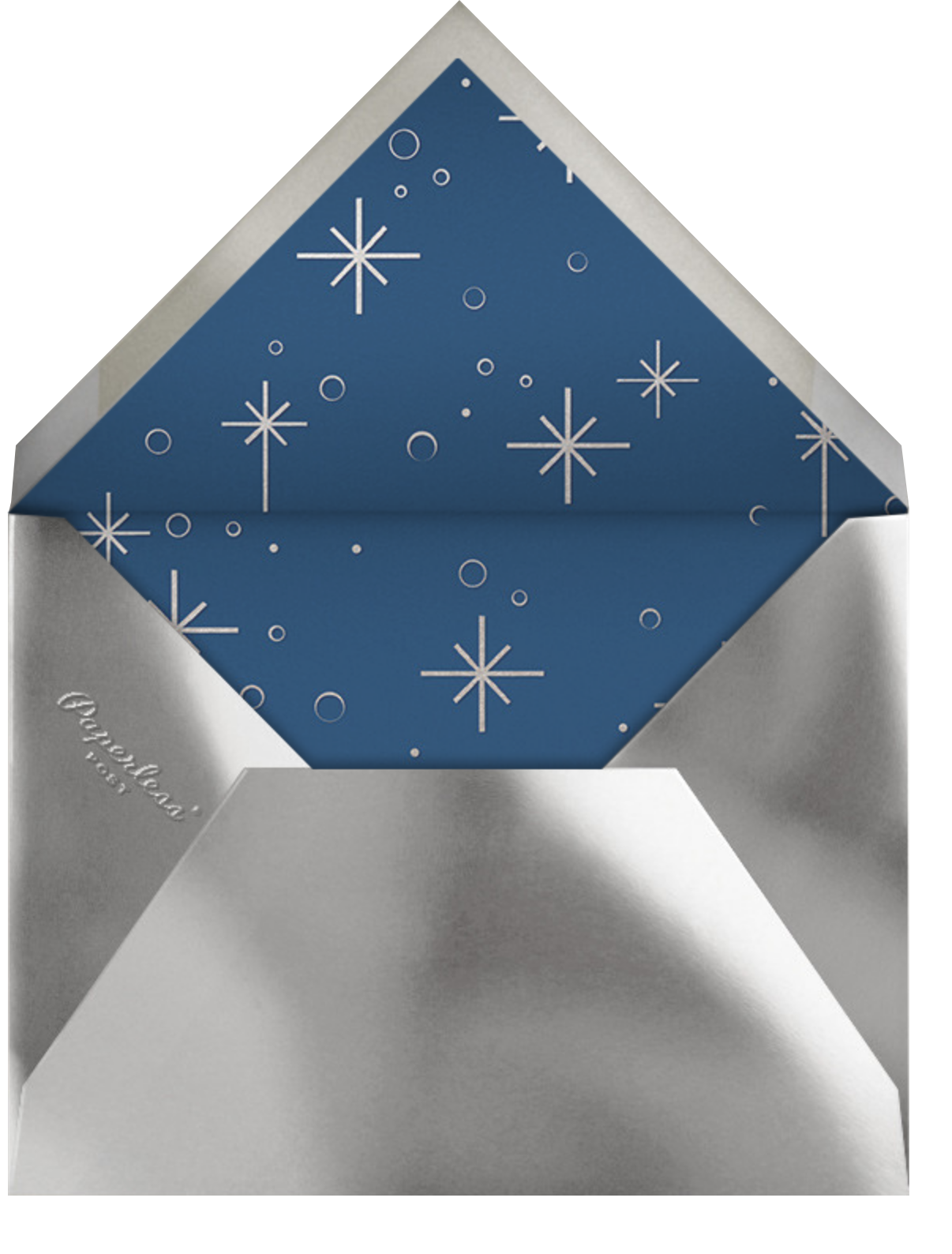 Celestial Snowflake - Blue - Paperless Post - Holiday cards - envelope back